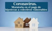 Moratoria para el pago de hipotecas a deudores en situación de dificultad por la crisis del Covid-19.